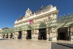 火车站在尼斯,法国 库存照片