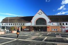 火车站在巴特克罗伊茨纳赫 免版税图库摄影