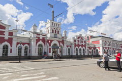 火车站在市沃洛格达州 库存照片