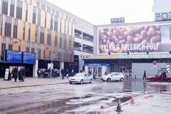 火车站在市波兹南 许多人员 21,01,2018 免版税库存图片