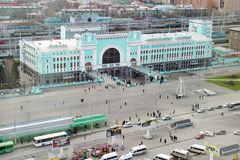 火车站在新西伯利亚市,最大的城市在西西伯利亚,俄罗斯 库存图片