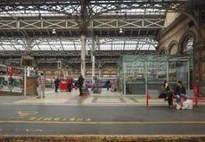 火车站在普雷斯顿 免版税库存照片