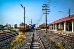 火车站在泰国 库存图片