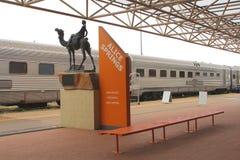 火车站在爱丽斯泉澳大利亚 免版税库存图片