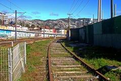 火车站在瓦尔帕莱索,智利 免版税图库摄影