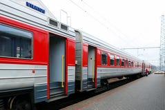 火车站在立陶宛维尔纽斯市的首都 免版税库存照片