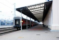 火车站在立陶宛维尔纽斯市的首都 图库摄影