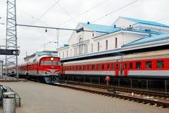 火车站在立陶宛维尔纽斯市的首都 库存图片