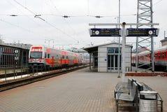 火车站在立陶宛维尔纽斯市的首都 免版税库存图片