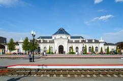 火车站在莫吉廖夫,白俄罗斯 库存照片
