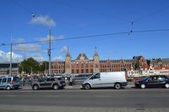 火车站在阿姆斯特丹 图库摄影