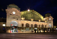 火车站在巴塞尔 瑞士 免版税库存图片