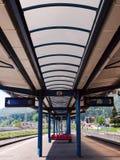 火车站在Busteni,罗马尼亚 库存图片