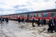 火车站在Dorud 免版税库存照片