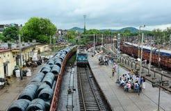 火车站在Gaya,印度 库存照片