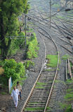 火车站在Gaya,印度 免版税图库摄影