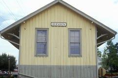 火车站在Herndon,费尔法克斯县, VA 免版税库存照片