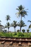 火车站在Hikkaduwa,斯里兰卡 图库摄影