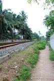 火车站在Hikkaduwa,斯里兰卡 免版税库存图片