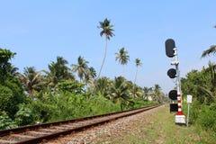 火车站在Hikkaduwa,斯里兰卡 库存照片