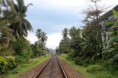 火车站在Hikkaduwa,斯里兰卡 库存图片