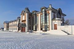 火车站在Velsk镇,阿尔汉格尔斯克州地区 库存图片