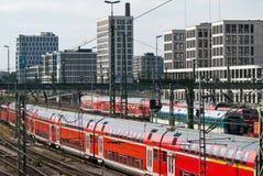 火车站培训 免版税图库摄影