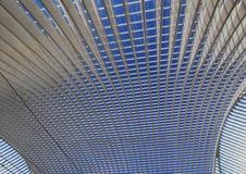 火车站天花板在列日省Guillemins 库存照片