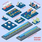 火车站概念 皇族释放例证