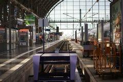 火车站法兰克福 免版税库存照片
