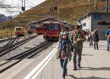 火车站烟特勒根 图库摄影