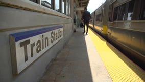 火车站的企业通勤者 影视素材