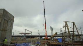 火车站的建造场所的全视图 股票视频