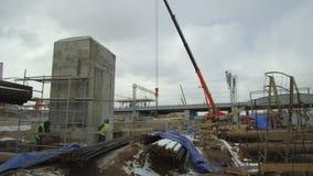 火车站的建造场所的全视图 影视素材
