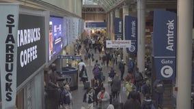 火车站的通勤者在华盛顿特区 影视素材