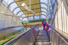火车站的Prater人们在维也纳 库存图片