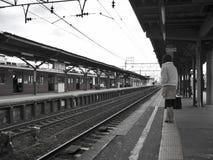 火车站等待 库存照片