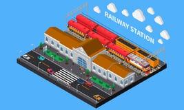 火车站等量构成 免版税图库摄影