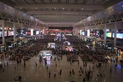 火车站终端虹桥上海 免版税图库摄影