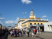 火车站雅罗斯拉夫尔市主要 免版税库存图片