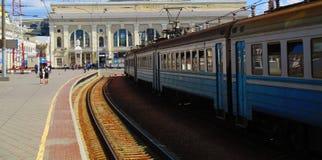 火车站,傲德萨,乌克兰 免版税图库摄影