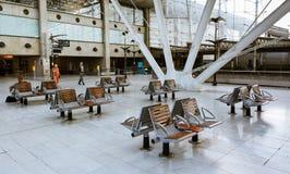 火车站,夏尔・戴高乐机场,巴黎3 库存图片