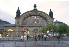 火车站,法兰克福 库存照片