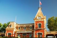 火车站,迪斯尼乐园 库存照片