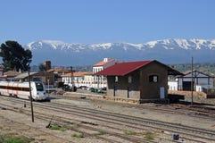 火车站, Guadix,西班牙。 免版税库存图片