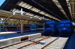 火车站, Temuco,智利 库存图片