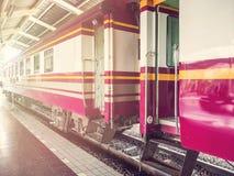 火车站终止培训 免版税库存图片
