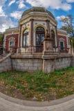 火车站Baile Herculane,罗马尼亚的大厦 图库摄影