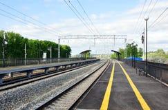 火车站Bogolubovo 俄国 免版税库存图片
