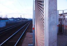火车站bokeh城市背景 免版税库存照片